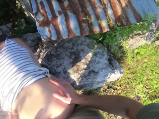 Perfect sex after work with teen real outdoor amateur couple LustTaste 4K