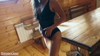 She lost her virgin honor in a German sauna.