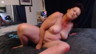 V282 Redhaired PAWG Dawn reverse cowgirl on dildo and lick my ass