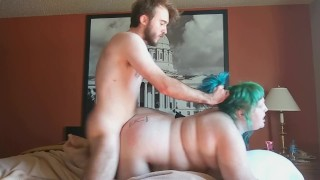 STUD WITH FAT COCK SPLITS THICK WHITE ASS IN TWO