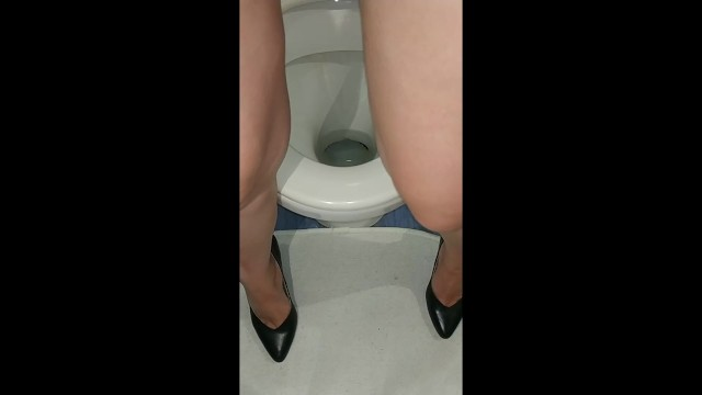 My Wife Poured into the Toilet in High Heels - Pornhub.com