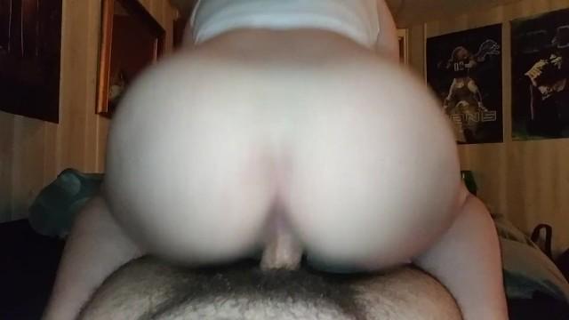 cumming hard riding dildo