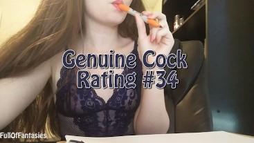 Genuine Cock Rating #34   FullOfFantasiesOnline.com