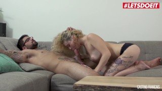 LETSDOEIT - Curly Headed French Hottie Drilled Hard At Casting
