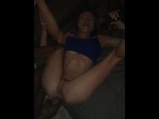 Ado get fucked by 2 BBC while my husband recording-I'm a Big Black Slut !!