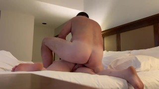 girl Gets Fucked Hard by Best Friends Dad in Hotel Room