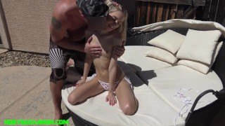 85 Pound Chanel Shortcake Face Fucked & Fucked Hard by the Pool