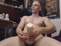 2,5h of fucking fleshlight with single erection - Chris Wild