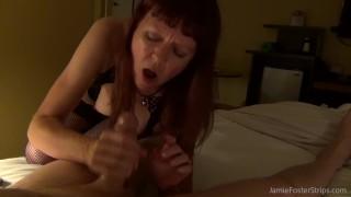 Dominant Mature Woman Handjob Fun