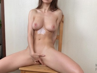 Slow stripping and teasing before fingering myself - Mini Diva
