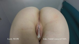 Screen Capture of Video Titled: TRYING TO GET ME PREGNANT AGAIN! AMATEURS CREAMPIE- LADY WOW