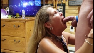 Mature Daizy Layne Schoolgirl Deepthroats,Sucks,Swallows Huge Cock