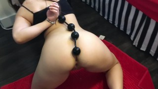 Extreme Anal and Squirt With Huge 15 Inch Anal Beads | Lexa Lite
