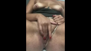 amateur milf SQUIRTS GUSHER in bathroom in 2 minutes
