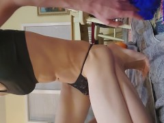 Sissy Shows Off Virgin Hole and then Fucks Ass Until She Cums in Panties