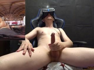 Cumming with Anna Bell Peaks in VR-helmet Oculus Rift S