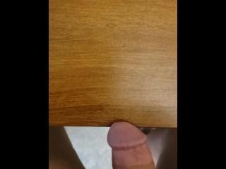 Masturbating Till I Cum All Over My Desk (Big Load)