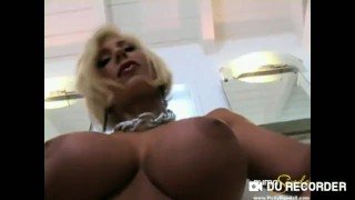 A young and Beautiful Puma Swede with short blond hair finds pleasure at ho