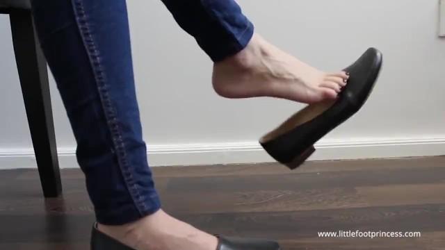 Dangling Flats In Jeans   Little Foot Princess