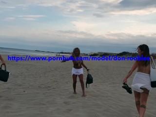 Brit Sluts Nudist Beach Flashing