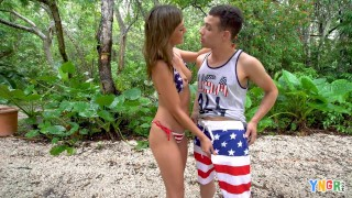 Screen Capture of Video Titled: YNGR - Fourth Of July BBQ Turns Into Fucking