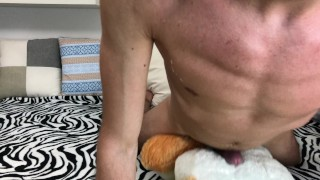 Athletic Horny Guy Humping While Moaning & Dirty Talking - Cum HandsFree 4K