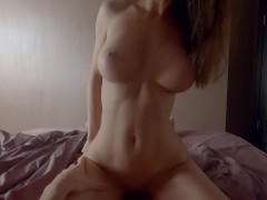 Romantic sex ended with huge cumshot on my face - Mini Diva