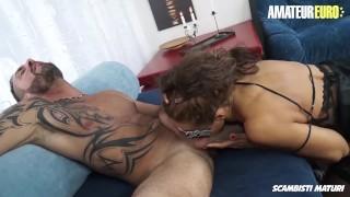 AmateurEuro - Italian MILF Seduces and Fucks Her StepSon On Camera