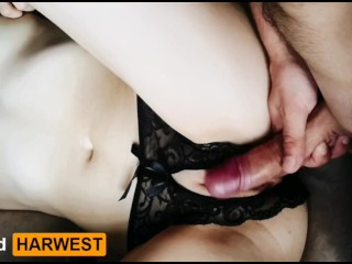 GrandHarwest. He fucked me through the panties.  Cumshot inside