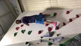 Logan Long's Cock Falls Out Rock Climbing