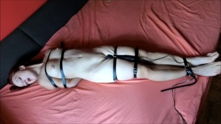 Tied up girl with vior