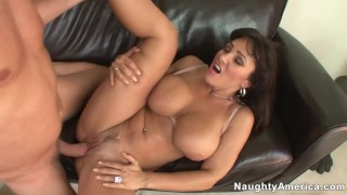 Naughty America - Family friend Lisa Ann fucking in the couch