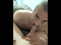 Getting my dick sucked and swallowed