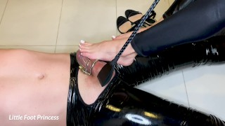 Slaves Chastity Is Removed And He Earns A Footjob | Little Foot Princess