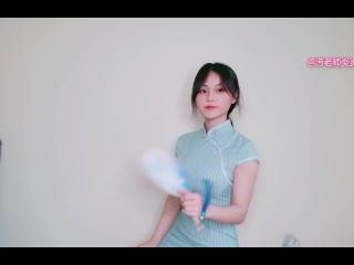 Cosplay vintage Chinese Dress QiPao 试穿改良旗袍 污老师炎炎