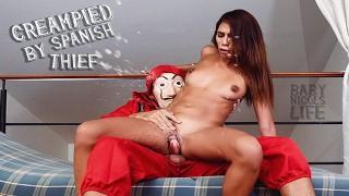 MONEY HEIST, CASA DE PAPEL DENVER CREAMPIED ME AND MAKE ME SQUIRT AT HOME!!