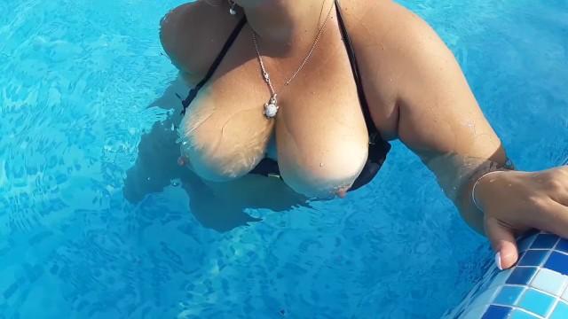 Pool big boobs Pool