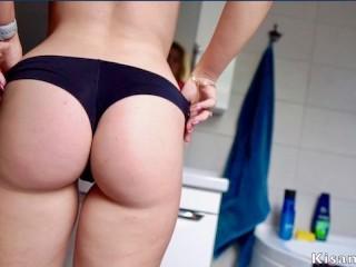 Yummy blonde love make rimjob, she give sperm on tits! Kisankanna