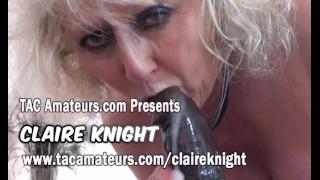 Granny porn queen Claire Knight loves big black cock