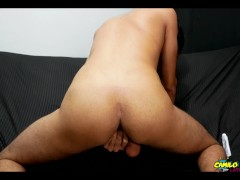 Sexy paisa Camilo shows his self fuck on casting and cums inside himself