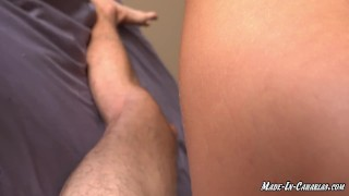 Horny rides my big dick and she just wants ANAL SEX
