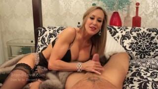 Brandi Love - Milf Brandi love stroking cock for new fur coat