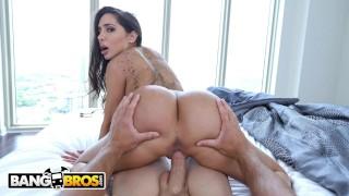 Screen Capture of Video Titled: BANGBROS - Glorious Big Booty Latin MILF Lela Star POV Fuck Sesh