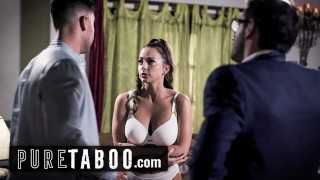 pure taboo struggling actress abigail mac pressured into 3-way at casting – teen porn