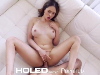 HOLED Huge Tit Jogger Anal Fucked With Leaking Creampie