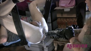 Tattooed Milf Gives A Rough Fuck With Fisting and A Tongue Biter Dildo