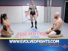 Mixed Wrestling Arm Wrestling Beautiful Strong man vs Hot Asian Woman