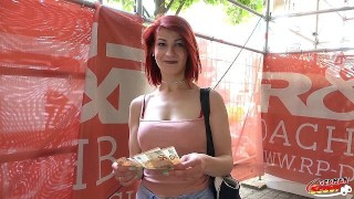 GERMAN SCOUT - COLLEGE TEEN JENNY FUCK FOR CASH AT REAL STREET CASTING