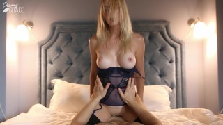 Beautiful Blonde Gets Satisfied And Creampied by Her Lover - Short Version