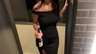 Screen Capture of Video Titled: девушка пришла в гости к своему соседу с шампанским в соседний номер отеля